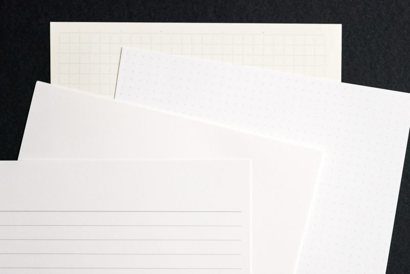 different paper layouts