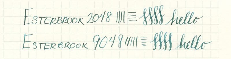 Esterbrook nib writing sample 9048