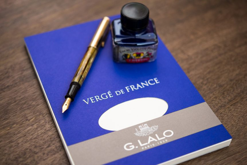 G Lalo Verge de France writing paper