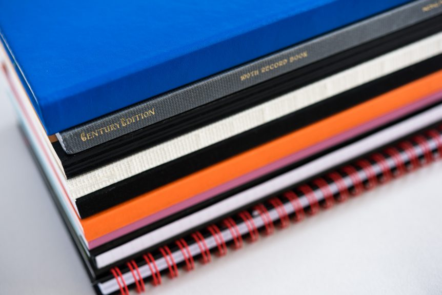 stack of fountain pen friendly notebooks